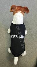 PET CLOTHES DOG TSHIRT SECURITY CAT ALL SIZES COTTON TEE EMBROIDERED PUPPY