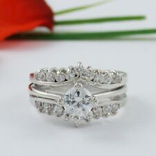 1 CARAT ROUND WEDDING ENGAGEMENT RING SET SIZE 5 6 7 8 9 10