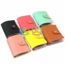 Woman PU Leather Wallet ID Credit Card Holder Refinement Case Purse Yellow