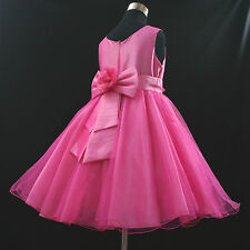 Easter Pink Christening Wedding Flower Girls Party Dress AGE 2-3-4-5-6-7-8-9-12Y