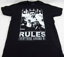 Mens NEW Johnny Cash Rules Man in Black Logo Graphic T-Shirt Size S M L XL