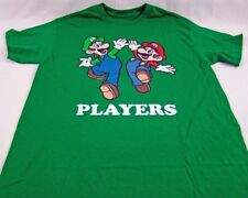 Mens NEW Green Mario Luigi Mario Cart Nintento Logo Graphic T-Shirt Sz M L XL 2X