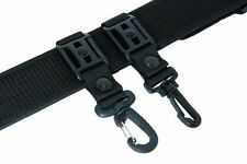 GG4 @ ARMY POLICE BLACK NYLON DUTY BELT KEEPERS SNAPS FIT BELTS 2 - 2.25  INCH