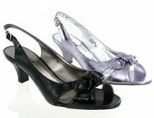 New Womens Viva la Diva Kitten Heels Slingback Sandals E Fit Size 4-8 UK