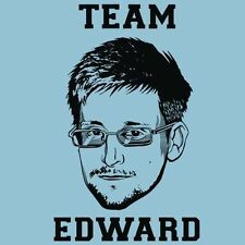 Team EDWARD SNOWDEN SHIRT Patriotic NSA Security Wikileaks Assange EFF Anonymous