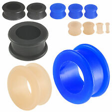 double flare ear plugs 3 pairs silicone streching earlets gauging piercing 9RIE