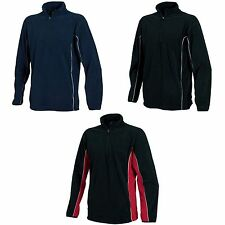 (Free PnP) Tombo Teamsport Mens 1/4 Zip Sports Training Micro Fleece Top S-2XL