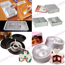 NEW CAKE DECORATING TIN SET NUMBER LETTER HEART TASTY-FILL PAN MOLD BAKEWARE