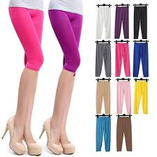 Srping Summer Ultrathin Sheer 3/4 Length Cropped Leggings Short Capri Pant Tight