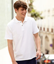Mens Fruit Of The Loom Screen Stars Original 100% Cotton Polo Shirts, 6 Colours