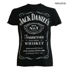 Official T Shirt JACK DANIELS Big CLASSIC LOGO Black All Sizes