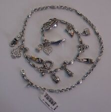 Brighton Charms Silver Plated Chain Belt  Size S   List $68!  NWT