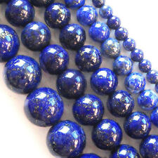 "Wholesale Lapis Lazuli Loose Beads 15.5"" 4mm,6mm,8mm,10mm,12mm"