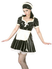 Latex Rubber Maid's Dress Outfit Black & White All Sizes | Sexy Fetish