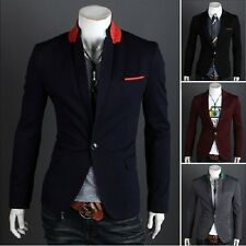 Hot! Mens Casual TOP Design Sexy Slim FIT Blazers Coats Suit Jackets 4 size