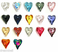Swarovski Crystal Element 6240 Wild Heart Love  Pendant Charm Many Color & Size