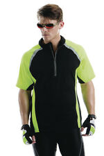 Mens Tour Sports T-Shirt-Gamegear Cooltex, Zip Neck Top Sports T-shirt