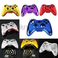 Chrome Plating Full Shell Case + Button for Xbox 360 Wireless Controller
