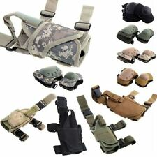 New Tactical Puttee Thigh Leg Pistol Gun Holster Pouch & Military Knee Elbow Pad