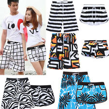 New Fashion Mens Womens Lovers Couple Zebra Various Beach Surf Board Swim Shorts