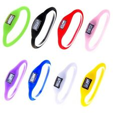 Digital Silicone Rubber Jelly Anion Negative Lon Sports Bracelet Watch 8 Color
