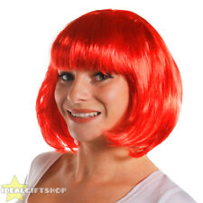 X6 LADIES RED BOB WIGS WITH FRINGE 1920'S FLAPPER FANCY DRESS FASHION BABE HAIR