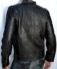 Affliction - HIGHWAY MAN - Men's Leather Jacket - Biker - NEW - 110OW067