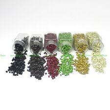 4mm Multi-Color Aluminium Micro Lined Ring Link Beads FEATHER Hair Extension New