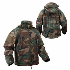 jacket soft shell woodland camo special ops waterproof shell rothco 9906