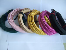 Satin Ribbon Wrapped Metal 5mm HEADBAND WHOLESALE LOTS HAIR BAND ACCESSORY