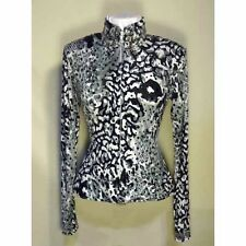 13106 Wire Horse LTD. Ladies Black Silver White Sequins Pleasure/Rail Shirt NEW!