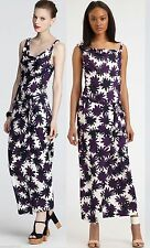 $498 Diane Von Furstenberg DVF Louanne Long Asterisk Meadow Aubergine Dress 4