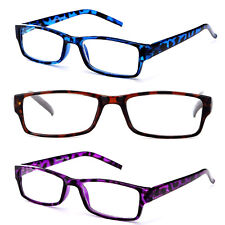 Women Transluscent Giraffe Print Reading Glasses Purple Brown and Blue Readers