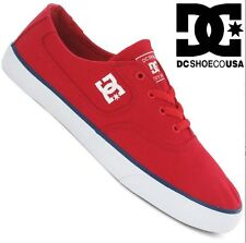 DC SHOES men's FLASH TX trainers RED BLUE RB3 skate motocross vans plimsolls NEW
