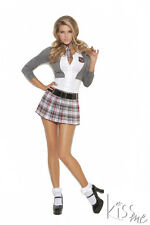 "SEXY ""QUEEN OF DETENTION"" SCHOOL GIRL COSTUME~PLUS SIZES TOO"