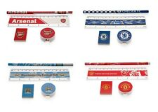OFFICIAL FOOTBALL CLUB - Stationery Set (4 Piece) Ruler,Pencil,Rubber,Sharpener