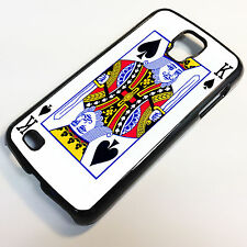 "Cover for Samsung Galaxy S4 Active King Cards Deck Spade Poker Quirky Case ""6044"