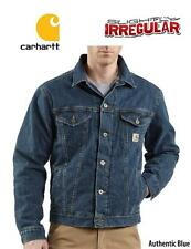 "Mens CARHARTT ""UnLined"" AUTHENTIC BLUE Denim JEAN JACKET Rugged Work Coat *NEW"