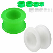 Ear plugs 20mm ear stretchers kit silicone plugs gauge double flare 2 PAIRS 9SBA