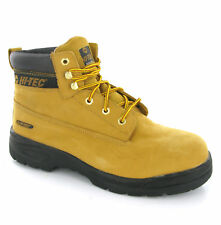 Men Hi-tec Steel Toe Cap Honey Safety Work Boots 11-14