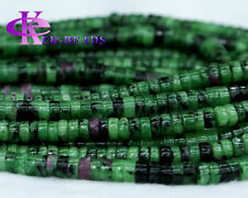Discount Wholesale Ruby Zoisite Tube Loose Beads Barrel Column Wheel Rondelle