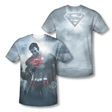 Superman Light Of The Sun All Over Sublimation Print Licenced Adult Shirt S-3XL