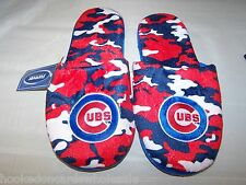 2013 Chicago Cubs MLB Team Color Camo Camouflage Mens Slippers