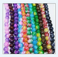68 pcs 6mm Round Chic Glass Loose Spacer Bead Pick 18 Colors -1 Or Mixed DIY Y02
