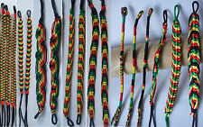Rasta Friendship Bracelet WRISTBAND Cotton Silk Reggae Jamaica Surfer Boho
