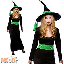 Wicked Witch Ladies Halloween Fancy Dress Womens Costume Outfit + Witches Hat