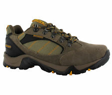 New Mens Hi-tec Eagle Brown Leather Waterproof Hiking Shoes Trainers Size 7-16