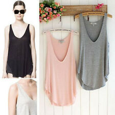 Hot Summer Women Lady Sleeveless V-neck Candy Vest Loose T-shirt Tank Tops