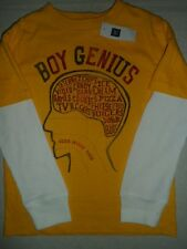 GAP KIDS Yellow Boy Genius Graphic Double Sleeve Top Tee Shirt NWT