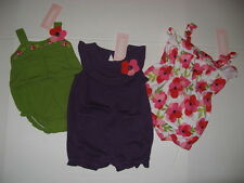 Gymboree TROPICAL PETALS Baby Girls size 3 6 m 1 piece Bubble  Romper NWT U PIC